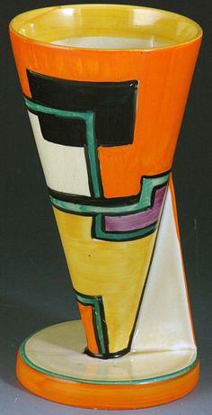 Art Déco - Vase 'Cône' - Clarice Cliff - Début des Années 30