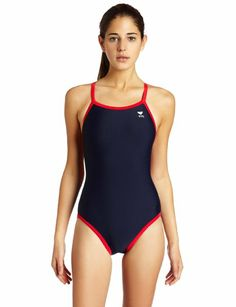 ada1d900ec834 TYR Sport Women's Reversible Solid Diamondback Swim Suit