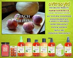 Peach Melon Product Collection - What says summer better than melons? A nice blend of sweet, juicy melons and sliced peaches that will remind you of the freshest fruit salad. #OverSoyed #PeachMelon #Peach #Melon #MixedFruits #MixedFruit #Fruity #Fruit #Candles #HomeFragrance #BathandBody #Beauty