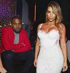 Kanye West and Kim Kardashian on October 25, 2013 in Las Vegas