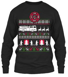 CHRISTMAS FIREFIGHTER UGLY SWEATER | Teespring