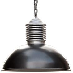 OLD Fabriklampe aus Aluminiumblech mit Kette *Die Fabriklampe in anthrazit pulverbeschichtet: ideal für Esstische