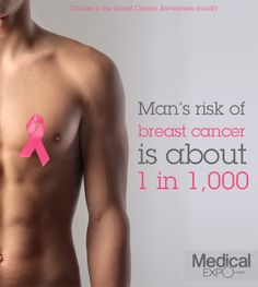 Men are susceptible too. #breast #cancer #men