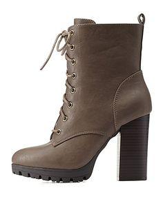 Lug Sole Combat Booties #booties #boots #CharlotteLook