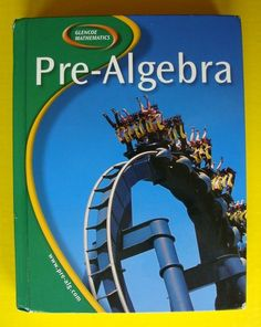 Glencoe Middle High School Mathematics 8 9 Pre Algebra Textbook Math Book McGraw