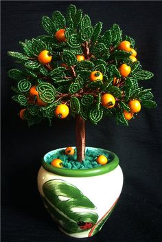 Beaded Orange Tree  TUTORIAL picture french