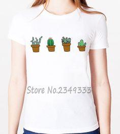Barato Harajuku cactus imprimir Mulheres camiseta Moda camisas de t Para Lady Casual Modal de Manga Curta Top T Engraçado SH 05, Compro Qualidade Camisetas diretamente de fornecedores da China:   bem-vindo à nossa loja!