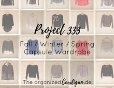 Project 333 Complete Fall Winter Spring Capsule Wardrobe