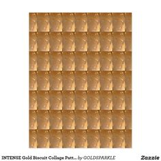 INTENSE Gold Biscuit Collage Pattern Graphic GIFTS Postcard