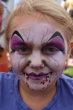 Vampire || Fanciful Faces, Chicago Face Painting - Chantal Rushing