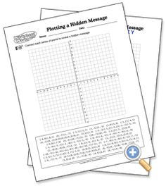 "Coordinates: Hidden Message - Free! WorksheetWorks.com - enter your own message and the program will create a coordinate grid worksheet (with answer key!) for students. I did this in about 2 seconds using the phrase, ""Happy New Year""   Awesome!"