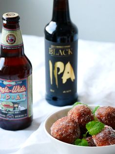 Some IPA and fresh donuts, yummy!