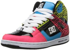 DC Shoes Women's Rebound High SE Sneaker,Black/Zebra