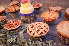 @Stormie Rhoades has always told m she will have pies at her wedding!