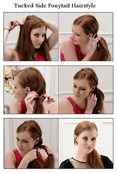 ~ DIY Tucked Side Ponytail Hairstyle~