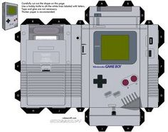 The Game Boy is an handheld game console developed and manufactured by Nintendo. The first handheld in the Game Boy line, it wa. Game Boy, Instruções Origami, Origami Templates, Box Templates, Oragami, Invitation Templates, Happy 25th Birthday, Video Game Party, Video Game Crafts