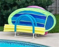 Pool Float Storage Ideas swimming pool towel rack bar tree float caddy Diy Pool Float Organizer