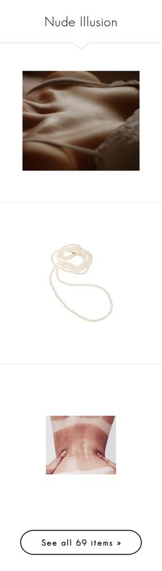 """""""Nude Illusion"""" by gracerosborough ❤ liked on Polyvore featuring pics, photo, pictures, jewelry, necklaces, accessories, fillers, pearl necklace, cultured pearl jewelry and white pearl necklace"""