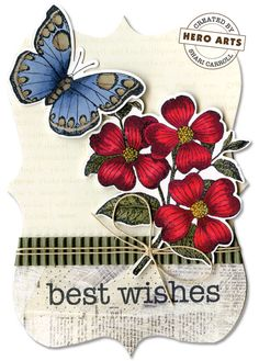Best Wishes by Shari Carroll.... I just ordered these stamps and dies.  Definitely going to love them!