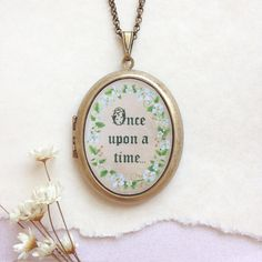 Once Upon a Time Locket  Flowering Vine Botanical by Lothirielle