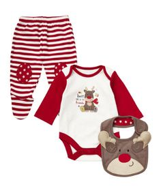Get involved with the festive season with the wonderfully versatile Mothercare three Piece Unisex Christmas Set. Autumn/Winter 2013.