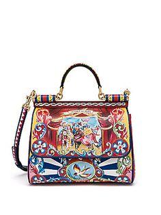 12bbae517c Dolce   Gabbana - Sicily Medium Multicolor Leather Top-Handle Satchel