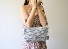 Crochet bag and  messenger bag  handbag for woman and por Notforeat