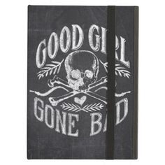 Good Girl Gone Bad Skull Chalkboard Case For iPad Air - Aug 29