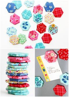Cute little hexagon fridge magnet DIY project from the Red Brolly.