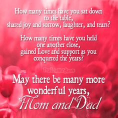 Choose the perfect wedding anniversary wishes for your Mom and Dad. Sweet wedding anniversary wishes for parents. Best Anniversary Wishes, Anniversary Wishes For Parents, Marriage Anniversary Quotes, Anniversary Message, Dad Qoutes, Mom And Dad Quotes, Wedding Congratulations Quotes, Aniversary Wishes, Dear Mom And Dad