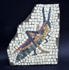 Grasshopper mosaic. Copy of a Roman mosaic.
