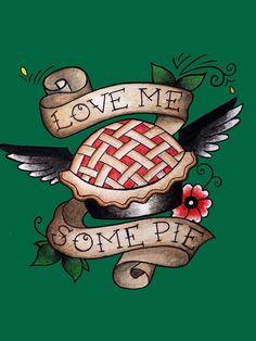 Pie/Angel Flash Tattoo by rosalynnllc