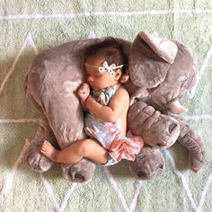 Elephant baby pillow.. how adorable!