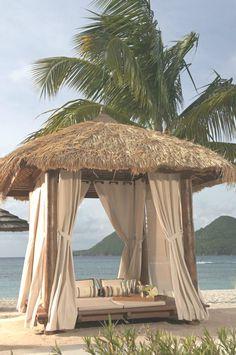 Private cabana on the beach