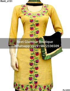 To Order, Call/Whats app On +919872336509 We Offer Huge Variety Of Punjabi Suits, Anarkali Suits, Lehenga Choli, Bridal Suits,Sari, Gowns Etc .We Can Also Design Any Suit Of Your Own Design And Any Color Combination.