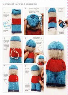 Petite poupée en tricot