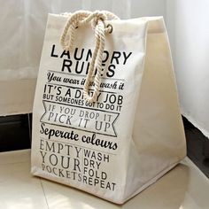 You wear it, you wash it! Our quirky foldable fabric laundry basket's ensure you never have to repeat the rules!