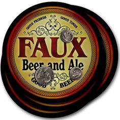 Beer Coasters 4pc Choose Name- Faux Gail Brea Pelc Dena Moul Warn Imai Para Saks…