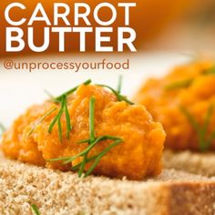 clean eating carrot butter