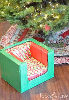 duck-tape-christmas-baby-chair-gift by imtopsyturvy.com, this is too fun, the kids would get a kick out of this!
