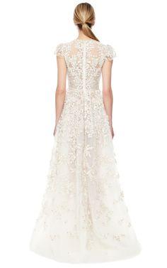 Avorio Multi Tulle Illusione Gown by Valentino