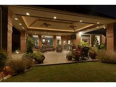 LOVE this huge back patio!