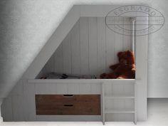 Hoogslaper of bedstee on pinterest bunk bed kids rooms and sleeping nook - Op maat hoogslaper ...