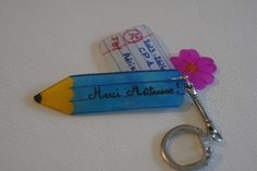 "Porte-clés "" Merci Maîtresse ! "" - #Plastiquefou #shrinkplstic"