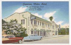 Cameron Motor Hotel Cars Brownsville Texas postcard