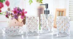 Crystal Styling Plastic Mix Bathroom Set factory supplier manufacturer