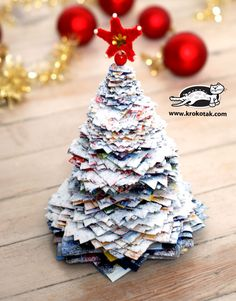 Leaflet Christmas tree, well covered in salt:)