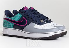 Nike Air Force 1 Low   Teal Elephant Print