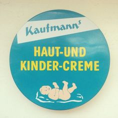 Kaufmann's Haut- und Kinder-creme | Baby lotion from Germany | introduced in 1950 by Walter Kaufmann in Bad Kreuznach | today it still is a small family run business producing great creme without conservatives | original 50's packaging design still in use | bought at Rossmanns in Berlin | #timelesspackaging Buy it here: USA|Germany