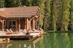 Rustic cabin deck of the Headwaters Camp Cabin in Montana [Design: Dan Joseph Architects]